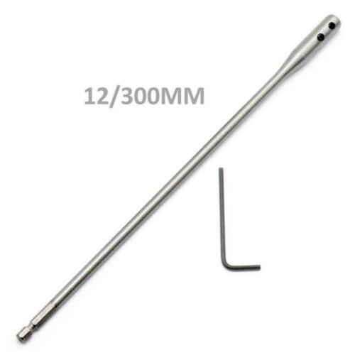 2pcs//set 1//4 Shank Drill Bit Extension Bar 150//300mm Hex Shank Extender Wrench