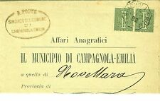 Z20786-EMILIA ROMAGNA,CAMPAGNOLA EMILIA,COLLETTORIA OTTAGONALE PER NOVELLARA1892