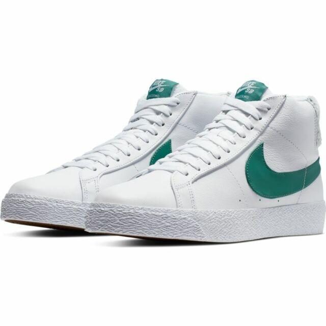 super popular 7c405 78cab Nike SB Zoom Blazer Mid Premium - White/Bicoastal Green - Sizes 9-12
