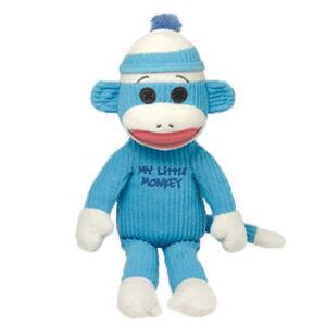 TY-SOCK-MONKEY-Plush-Stuffed-Baby-Boy-Newborn-40951-BLUE-MY-LITTLE-MONKEY