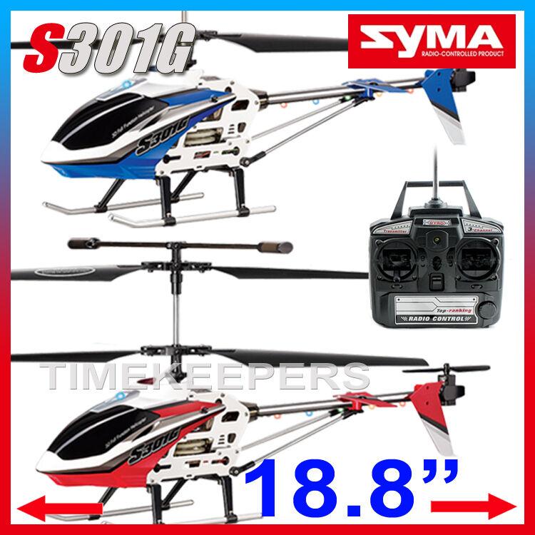Syma s301g a distanza Radiocomando 3 CANALE Gyro Rc Elicottero Aeroplano EP RTF