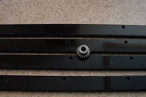 CNC-Plasma-table-mech-Rack-amp-Gear-96-034-Rack-4x24-034-pcs-amp-a-20T-14mm-pinion-gear