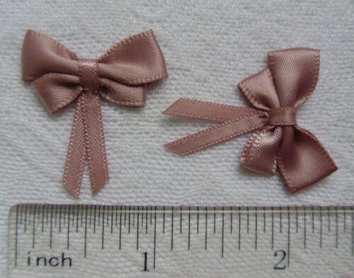 "R0123M 1-1//8/"" Antique Pink Satin Butterfly Ribbon Bows Appliques-Lots 30Pcs"