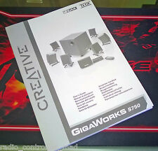 RARE Genuine Creative GigaWorks S750 Owners Instruction Manual (Multi Language)
