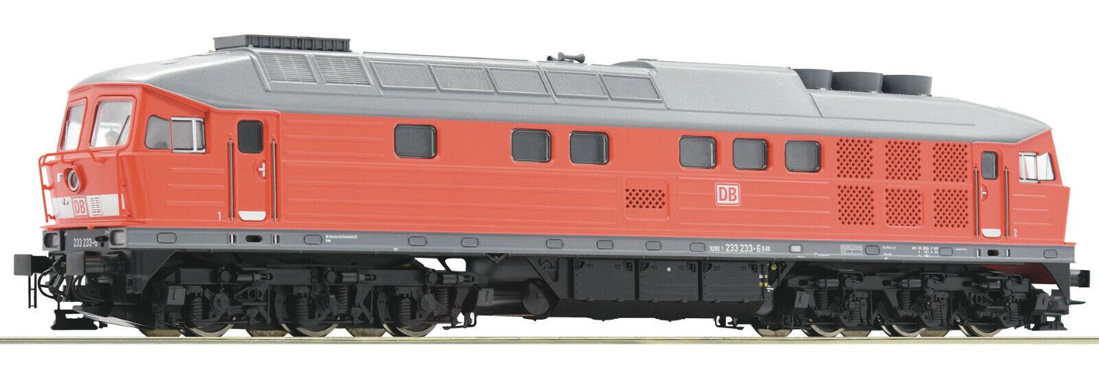 Roco H0 52497 Locomotora diésel BR 233 de DB AG  DCC Digital + Henning-Sound  NUEVO + OVP