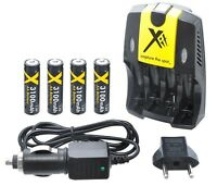 3100mah 4aa Battery & Ac/dc Charger For Canon Powershot Sx120