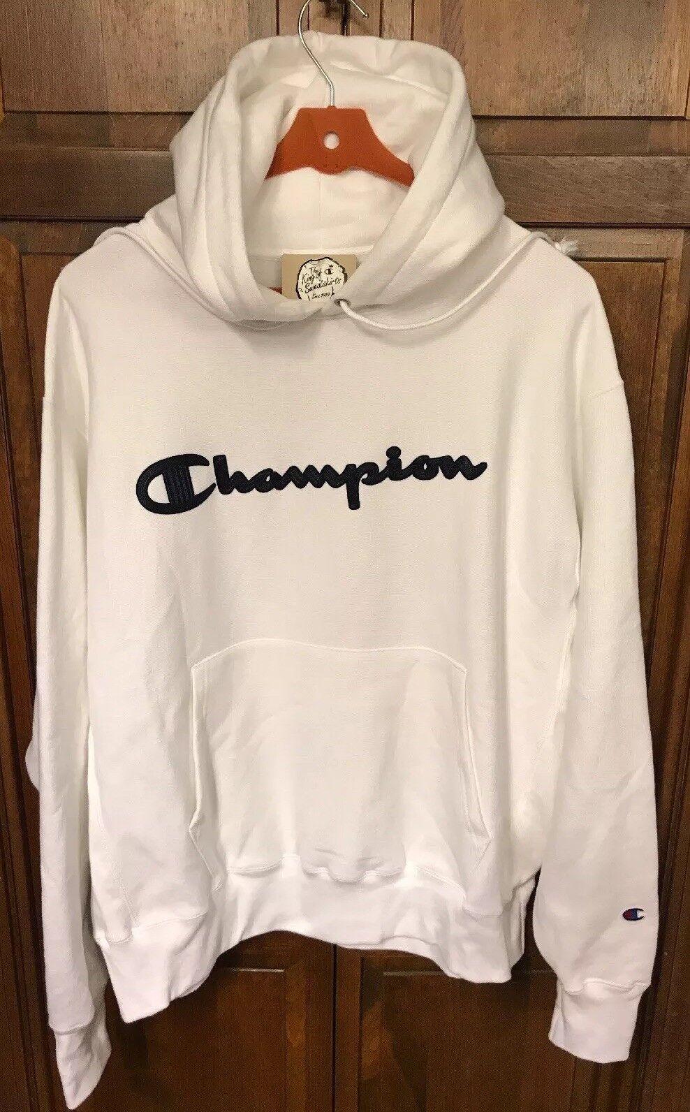 b4dddbdfafab Champion Reverse Weave Men 2xl Hoodie Sweatshirt Script Spellout ...