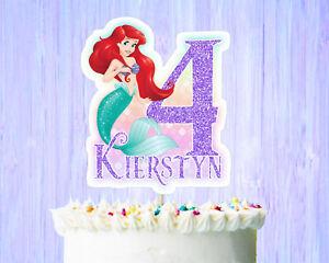 Enjoyable Ariel Birthday Cake Topper Little Mermaid Birthday Cake Topper Ebay Personalised Birthday Cards Paralily Jamesorg