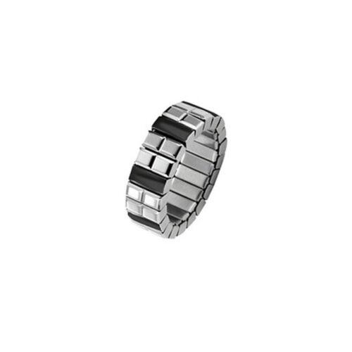 "Magnet Herrenring Ring 1215 /""Flexi Schwarz/"" Magnetschmuck"