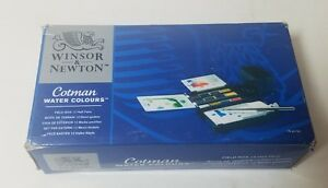 Winsor & Newton Cotman Water Color Field Box Set of 12 Half Pans New