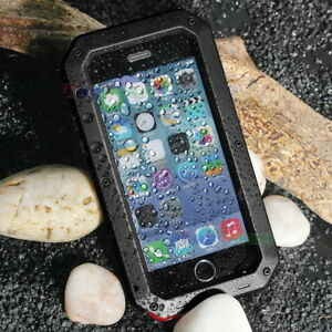 Heavy-Duty-Shockproof-Metal-Case-Cover-Gorilla-Glass-For-iPhone-5-6-7-8-Plus-X
