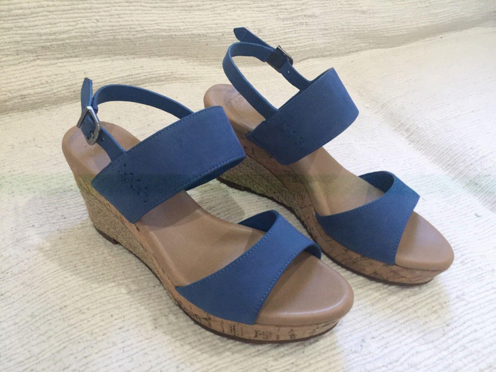 UGG Australia Femme Elena - Sandales à plateforme et sandales Azul 1015098 en jute de liège
