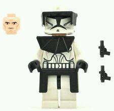 Lego Star Wars Clone Commander Trooper Minifigure full armor & guns Lot Wars