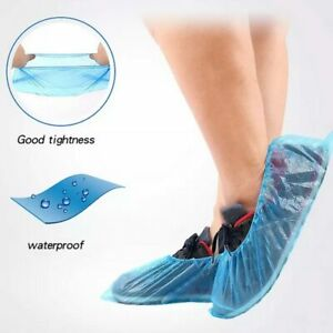 Wholesale-Blue-Anti-foot-infection-100Pcs-Pack-Waterproof-Disposable-Shoe-Covers