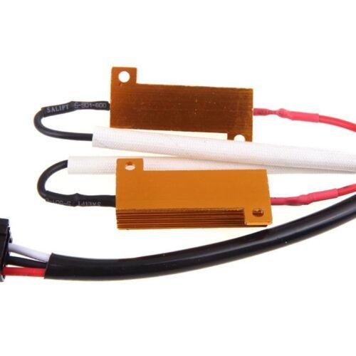 Wire HID Resistor Canceler Error Decoder 9007 HB5 Head Light Flicker Stop Fix