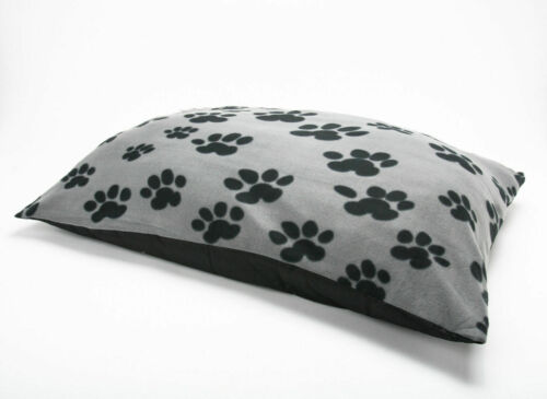 Fleece Paw Dog Bed Animal//Texture Warm Pet Washable Zipped Cover or Cushion Foam