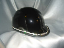 Bling Motorcycle Helmet made with Swarovski® Crystal Design-Silver XS -VH25*