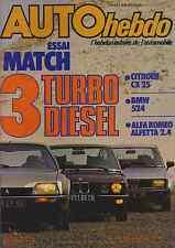 AUTO HEBDO n°385 du 8 Septembre 1983 cx 25