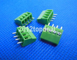 10pcs 3 Poles KF128 2.54mm PCB Universal Screw Terminal Block BB