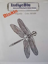 INDIGOBLU DINKIE CLING MOUNTED RUBBER STAMP - DRAGONFLY
