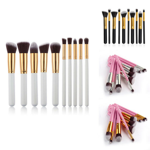 10Pcs Makeup Brushes Set Foundation Powder Eyeshadow Eyeliner Lip Brush Tool Hot
