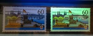 Bund-1583-x-y-sauber-postfrisch-Koblenz-1992-mit-und-ohne-Fluoreszenz-BRD-MNH