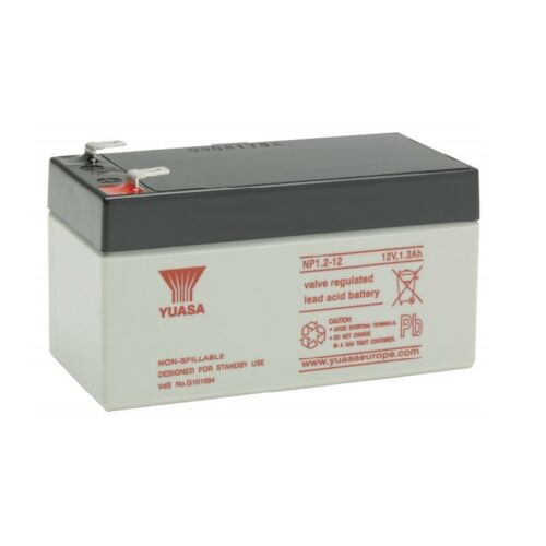 Batterie bateau amorceur yuasa NP1.2-12 12V 1.2ah 97x48x54.5mm
