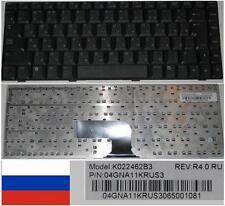 Qwerty Keyboard Russian ASUS W5 Series K022462B3 04GNA11KRUS3 Black