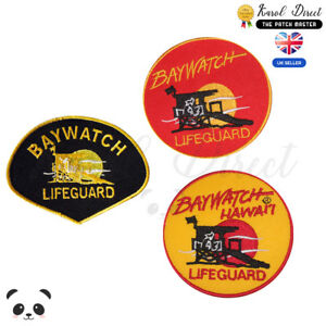 Baywatch-Movie-Embroidered-Iron-On-Sew-On-Patch-Badge-For-Clothes-Bags-etc