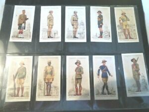 1938-Players-MILITARY-UNIFORMS-BRITISH-OVERSEAS-set-50-Tobacco-cards-complete