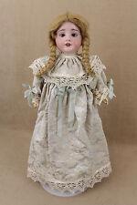 "18"" antique bisque socket head German R A Recknagel girl Doll"