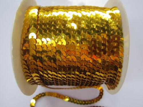 10 METER Pailletten Borte Spitze Gold waschbar 0,19€ //meter