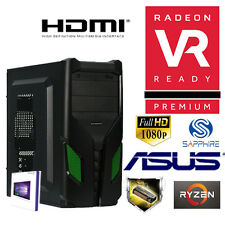 GAMER PC AMD Ryzen5 1600X 6x@4,00GHz+4GB Radeon SAPPHIRE RX550-1TB-8GB-Win10-CR
