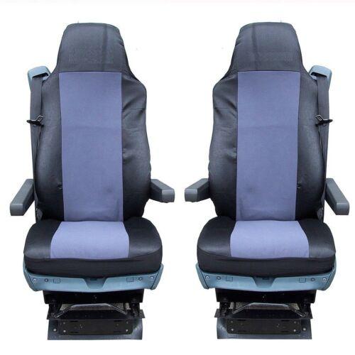 2x camión fundas para asientos para DAF xf105 XF 105 CF lf gris ya referencias