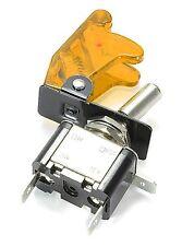 12V ORANGE LED LIGHT TOGGLE FLICK SPST ON/OFF SWITCH CAR DASH BOARD CHIP 176B
