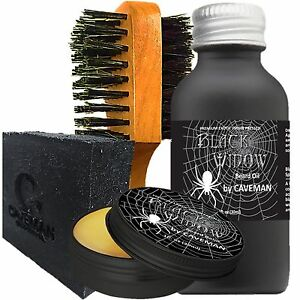 Shaving & Hair Removal Hand Crafted Caveman® Beard Oil Gift Set Kit Beard Oil Treatments, Oils & Protectors Balm Free Beard Brush
