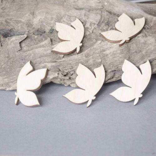 5 x Butterflies MDF Craft Embellishment Birch Plywood Laser Cut Wooden Shape