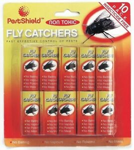 10 Collant Fly Papers Flypapers Tueurs Pièges Catchers Moustique Insecte Volant B-afficher Le Titre D'origine