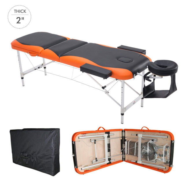 """73"""" 3 Section Foldable Massage Table Professional Salon SPA Couch Bed"""