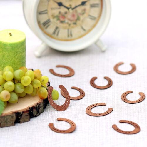 Echtholz Furnier Streudeko Farb Hufeisen Tischdeko in 30mm aus Wurfdeko