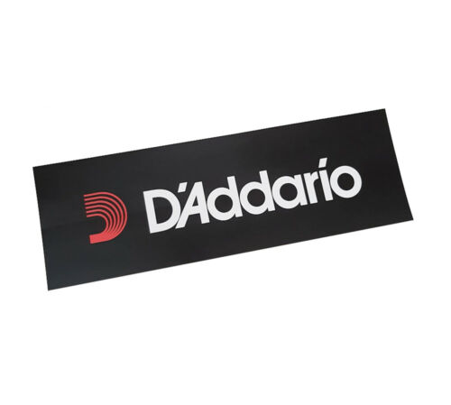 D/'Addario DCSTICKER Logo Black /& White Sticker 150mm x 50mm