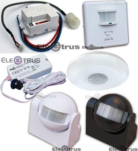 Bewegungsmelder Bewegungssensor PIR Unterputz Aufputz Licht LED Schalter Bemko