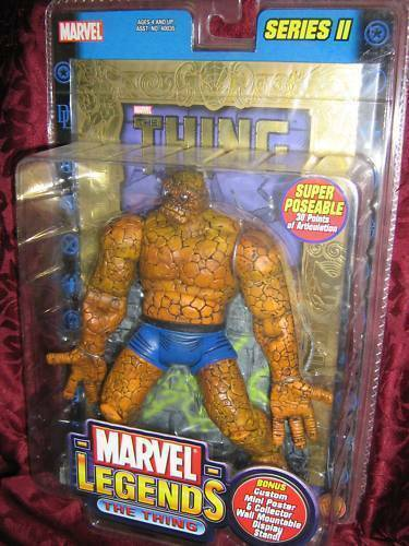 The Thing Marvel Leggende Lamina D'gold Serie 2 Statuetta