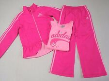 NWT Girls 3pc Adidas Pink Coat S/S Shirt & Pants Set sz 6