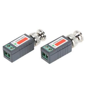 2x-Coax-CAT5-CCTV-Camera-Passive-BNC-Video-Balun-Connector-Transceiver-RJ45