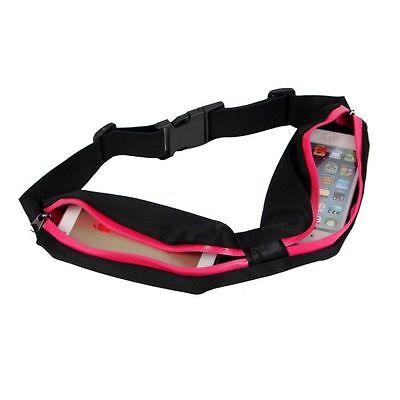 Doppeltasche Sportgürteltasche Schlüssel + Handy trennen Handygürtel pink