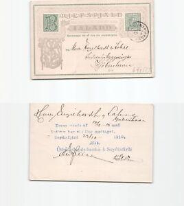 b91555-Island-Ganzsache-1910-nach-Kopenhagen-Knick