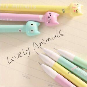 4pcs-set-Kawaii-Kitsch-Cat-Head-Gel-Pen-Cartoon-Korean-Cute-Pencil-Gift-Random