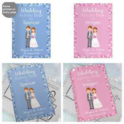 PERSONALISED WEDDING FAVOURS FOR CHILDREN Colouring Book Kids Meal Gift Idea
