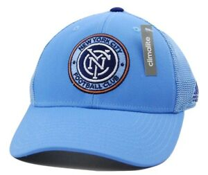 ac81e1d789a New York City FC adidas M520Z MLS Net Burner Team NYC FC Soccer Cap ...